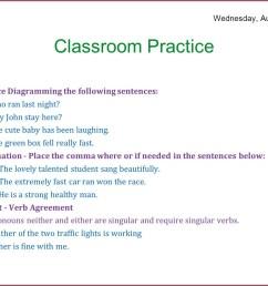 Diagramming Sentences Worksheets   Printable Worksheets and Activities for  Teachers [ 1034 x 1375 Pixel ]