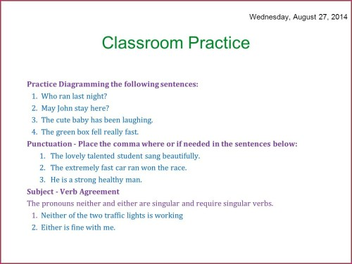small resolution of Diagramming Sentences Worksheets   Printable Worksheets and Activities for  Teachers
