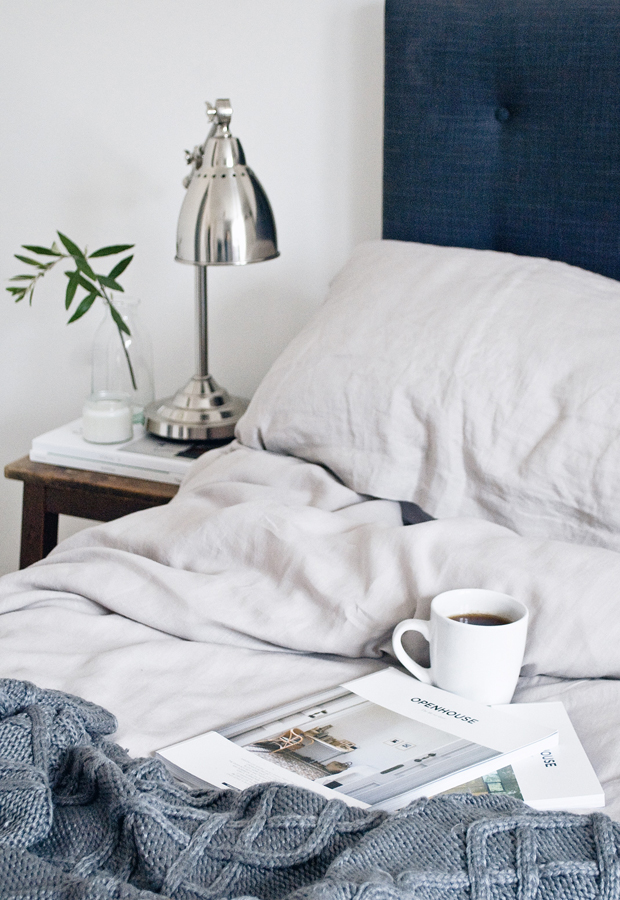 Linen bedding from Soak & Sleep | These Four Walls blog
