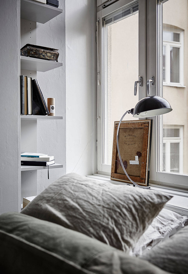 Home tour | A cosy Swedish space in greys and browns | These Four Walls blog