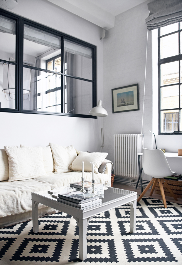 Home tour | A monochrome London apartment | These Four Walls blog