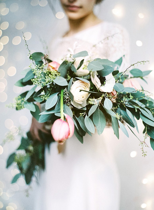 Urban loft wedding bouquet