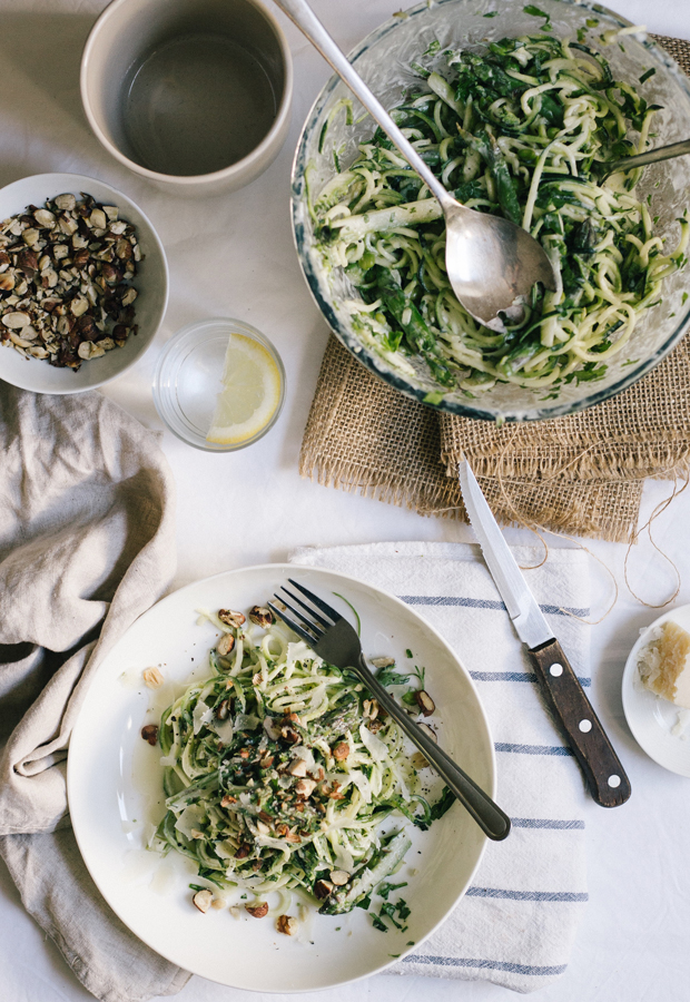 Recipe | Primavera courgetti salad | These Four Walls blog