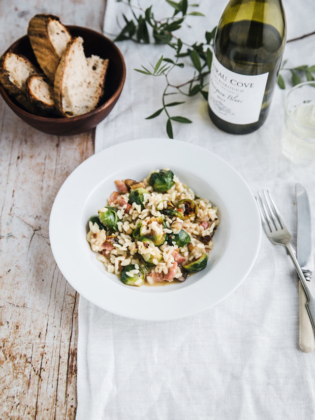 Recipe | Sprout, bacon & chestnut risotto | These Four Walls blog