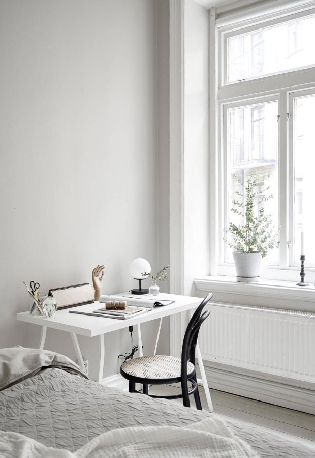 Home tour - a light-filled, pale-grey apartment in Gothenburg | These Four Walls blog