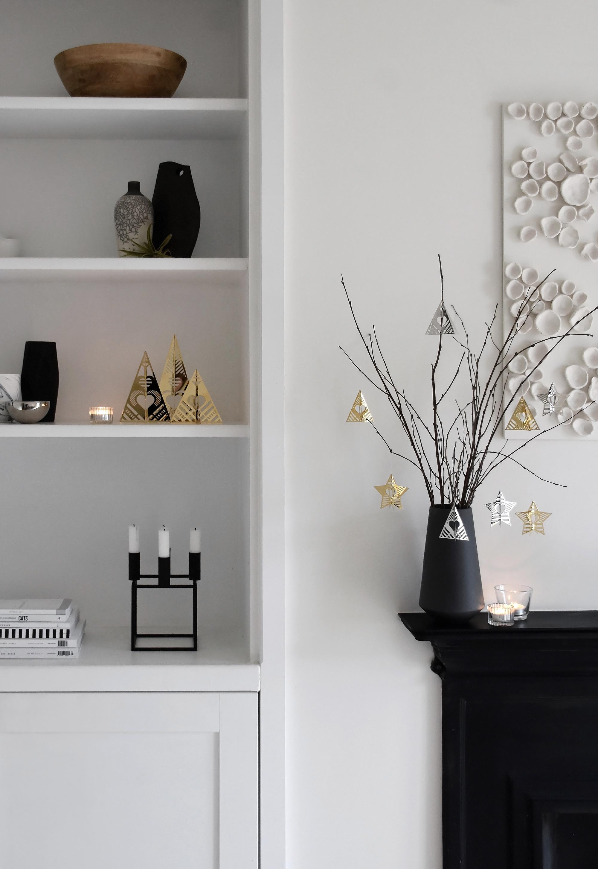 Minimalist festive styling with Georg Jensen's 2019 'Christmas Collectibles' | These Four Walls blog