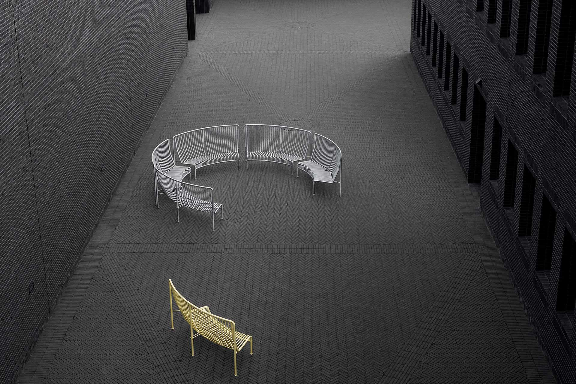 New finds from the Stockholm Furniture Fair 2020 - the 'Roadie' outdoor bench from Massproductions | These Four Walls blog