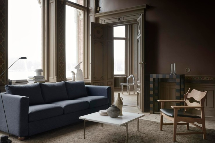 A stylish IKEA sofa hack featuring muted blue covers from Bemz's new 'Tactile Collection' | New finds - July 2021 | These Four Walls blog