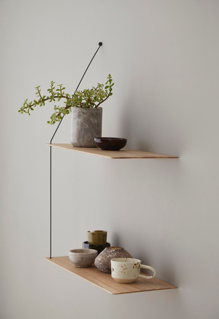 The minimalist 'Stedge' wall shelf by Woud | The design classics of the future | These Four Walls blog