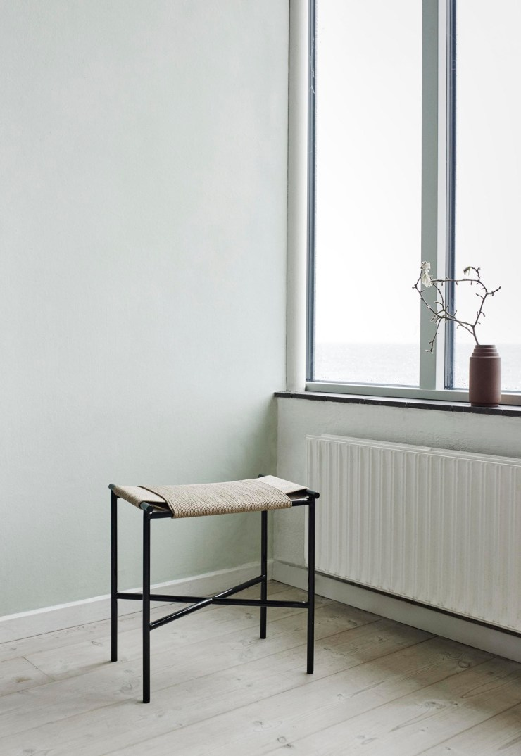 Skagerak's minimalist metal and paper-cord 'Vent' stool | The design classics of the future | These Four Walls blog