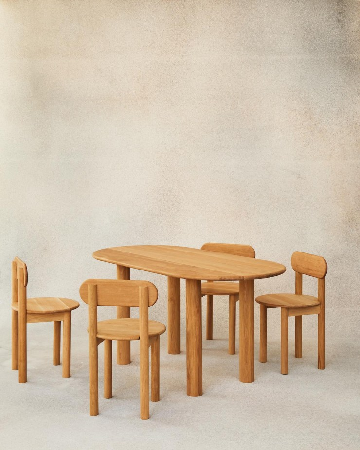 Minimalist oak dining table and chairs from Fred Rigby's new Everyday Collection | These Four Walls blog