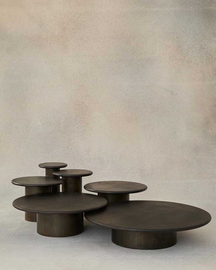 Minimalist circular coffee tables from Fred Rigby's new Everyday Collection | These Four Walls blog