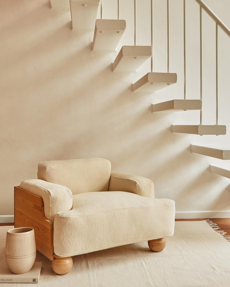 Beige bouclé chair from Fred Rigby's new Everyday Collection | These Four Walls blog