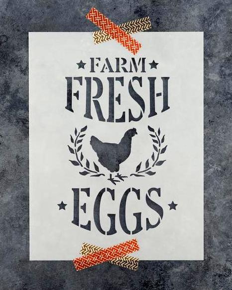 Farm Fresh Eggs Stencil