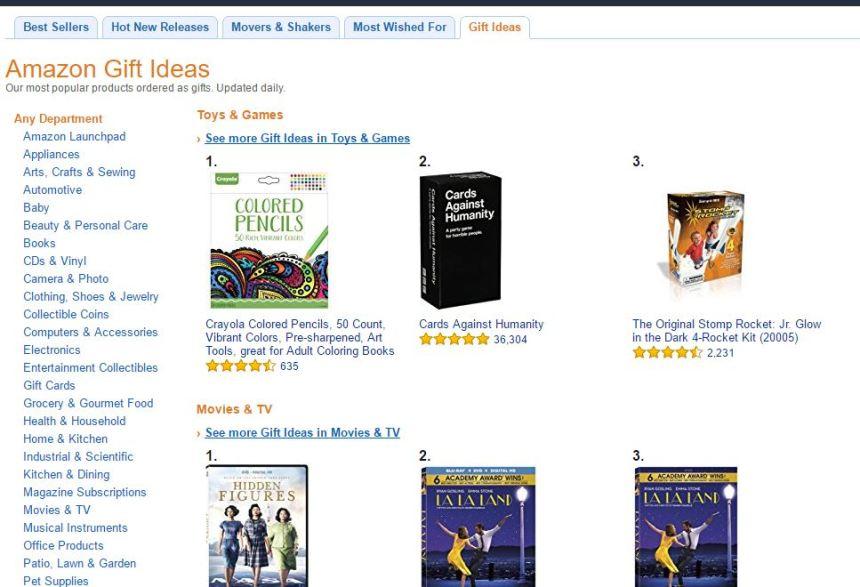 Idées cadeaux Amazon