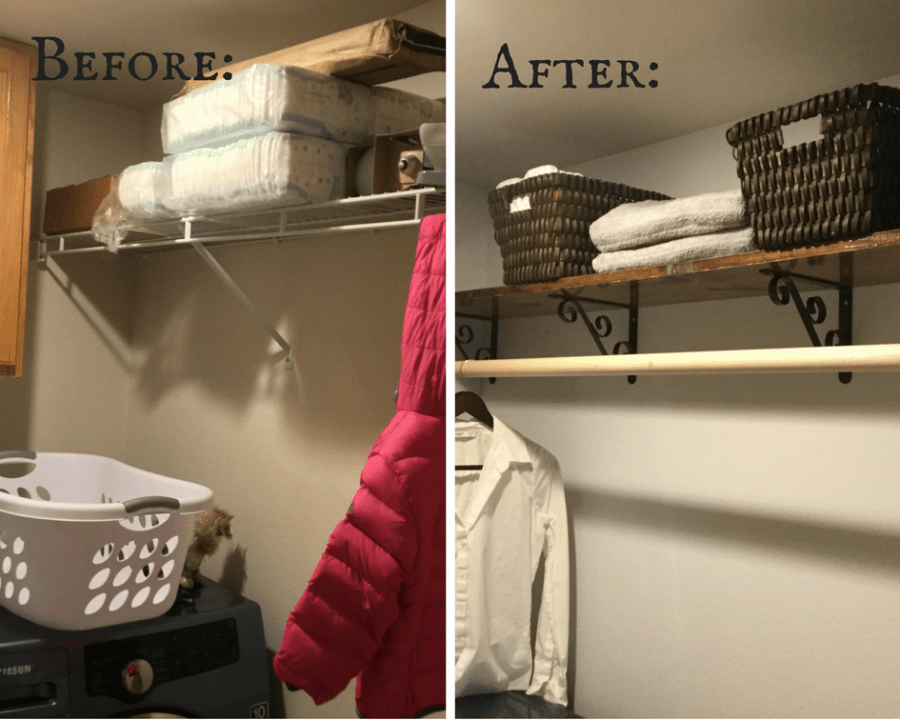 Laundry Room DIY Shelf