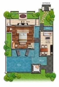 One-Bedroom Garden Villa | Villa Seminyak Private Pool