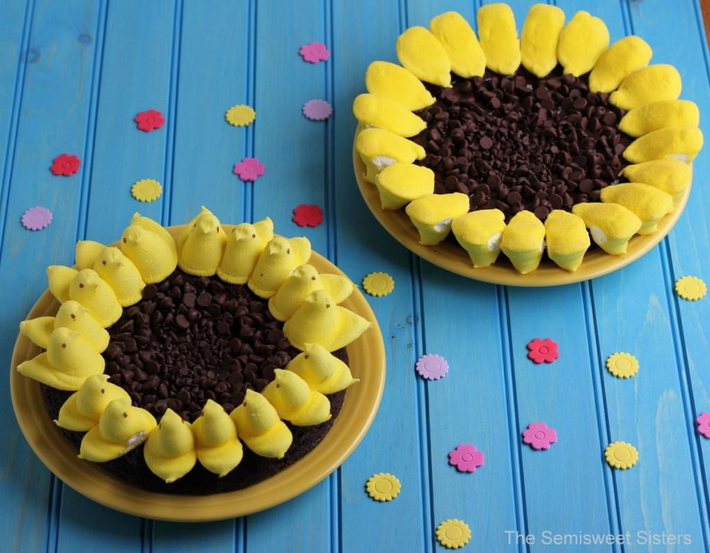 Peeps Sunflower Brownies