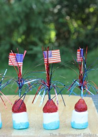 Patriotic Sticks – Strawberry Marshmallow Kabobs