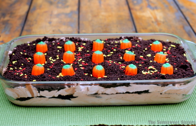 Double Chocolate Oreo Halloween Dirt Cake Recipe