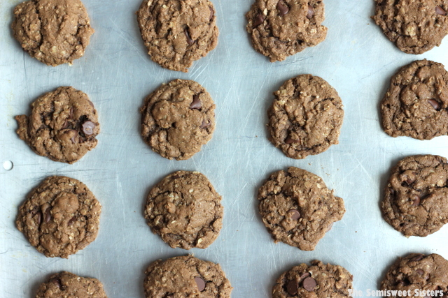 Double Chocolate Chip Oatmeal Cookies Recipe
