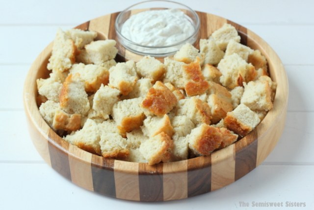 Beer Bread Recipe served with dip