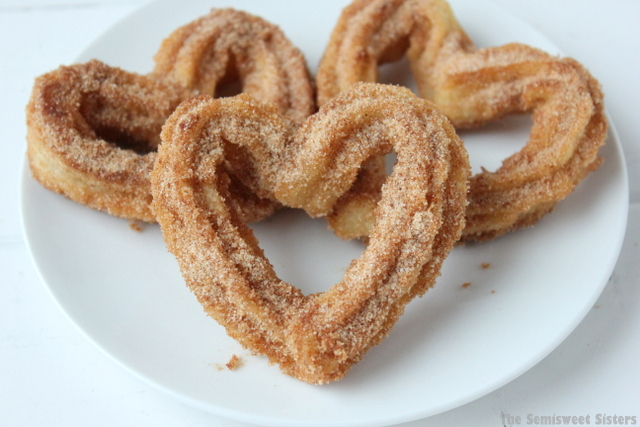 How to Make Heart Shaped Homemade Churros