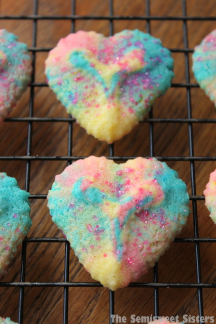 Valentine's Day Heart Shaped Spritz Cookies