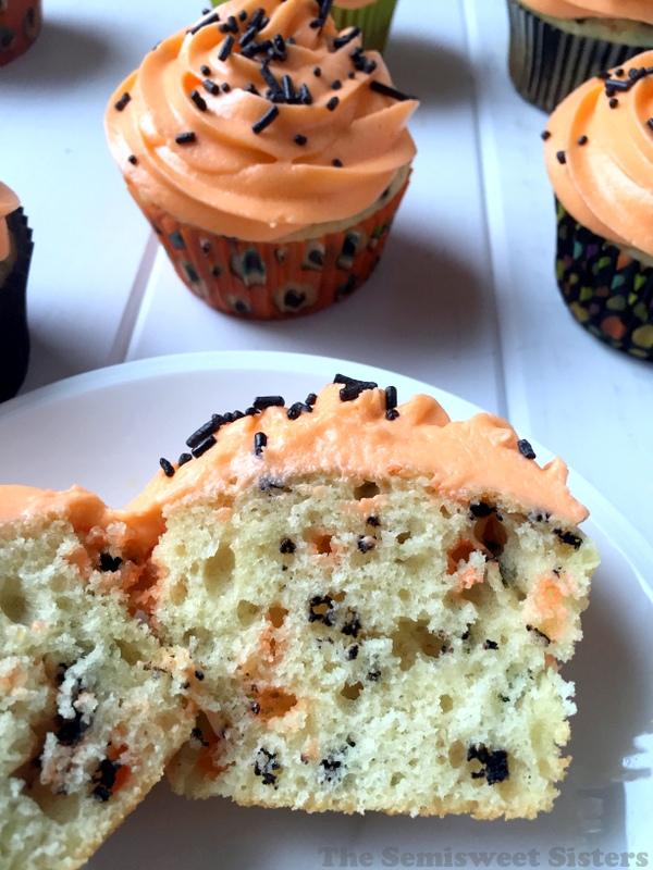Funfetti Halloween Cupcakes