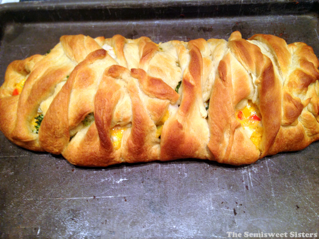 Chicken Broccoli Crescent Roll Braid Recipe