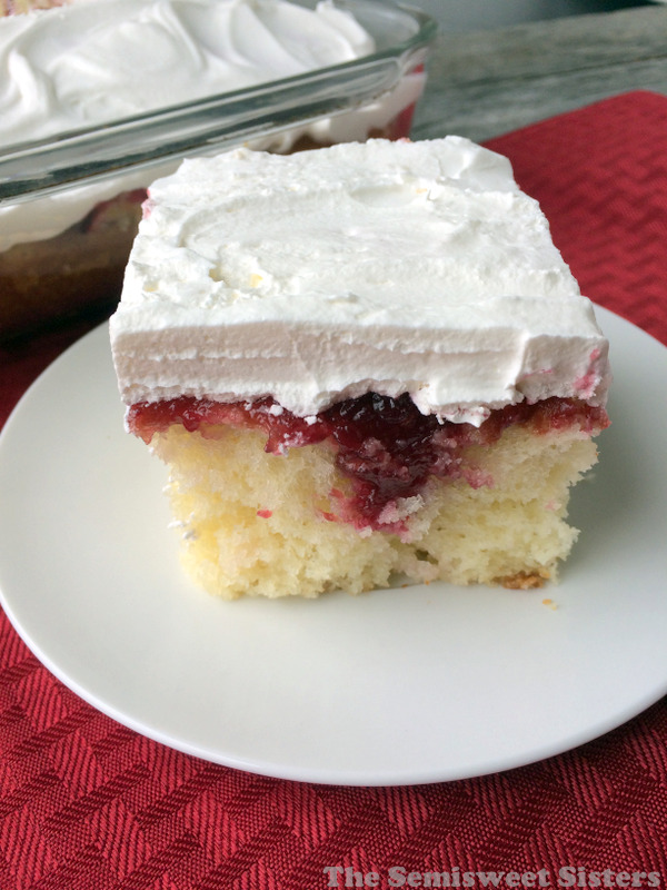 Cranberry Sauce Poke Cake Recipe