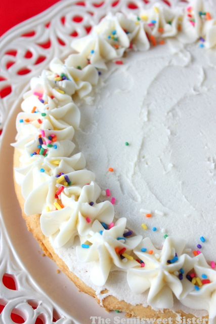 Giant Sugar Cookie Cake
