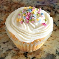 Old-Fashioned Vanilla Frosting made without Powdered Sugar