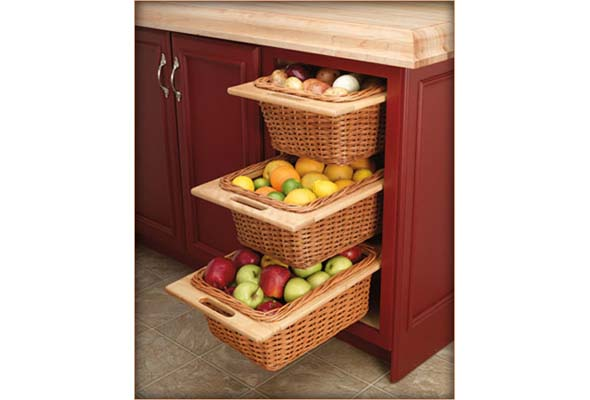 An attractive pantry option offered by Arrange Spaces of Montreal.