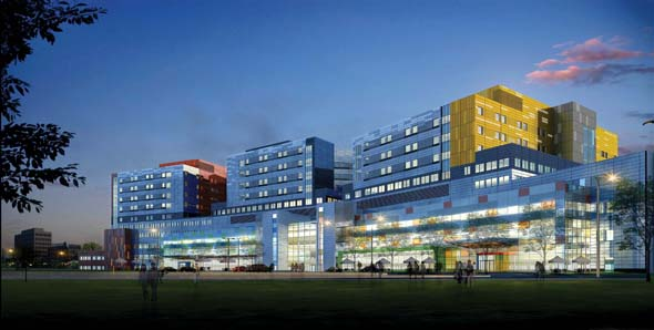 View of the Glen site in Montreal. (Photo courtesy of the MUHC)