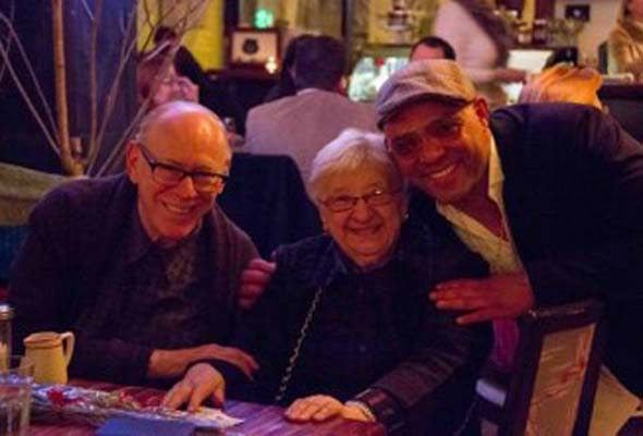 Rafael spends some time with Sid Stevens and Sun Youth volunteer Freda Kopyto. (Photo by Joseph Munro)