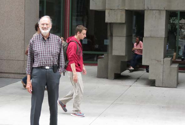 Now 73, Dr. Jonathan Meakins is enrolled as  an M.A. student in Fine Arts at Concordia University.