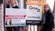 Montreal real-estate agents Bonnie Sandler (left) and Mary Lamey. (Photo: Caroline Ronalds)