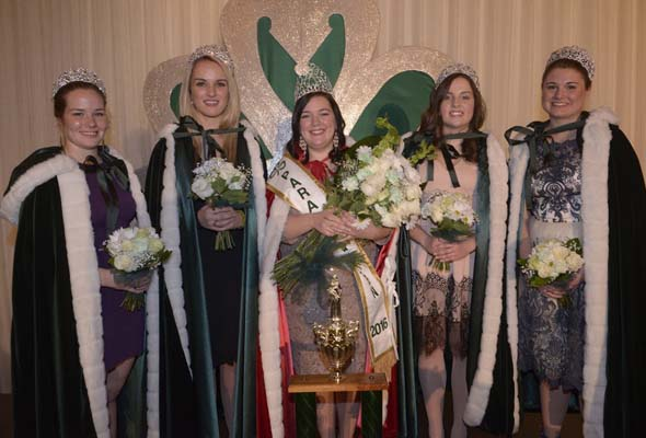 Queen Samantha Cambridge with Princesses Sydney Legare, Kelsey Farrell, Helene-Jane Groake, Lara Mackenzie