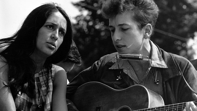 Joan Baez and Bob Dylan Civil Rights March on Washington, D.C. in 1963. (National Archives)