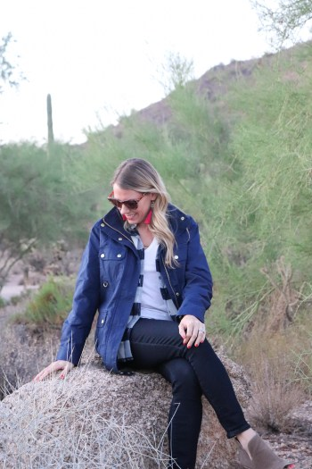 Love this navy utility jacket