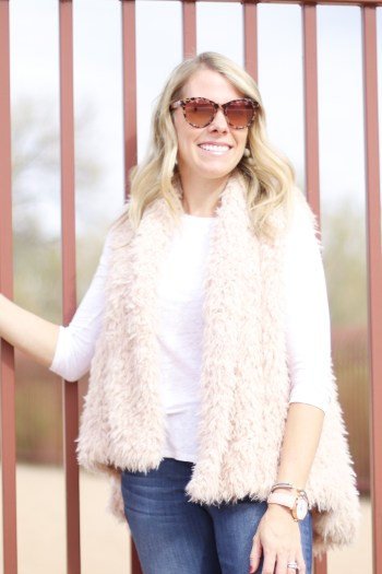 This light pink vest would be so cute for Valentine's Day