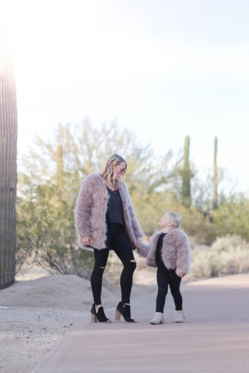 The best matching mommy and daughter coats