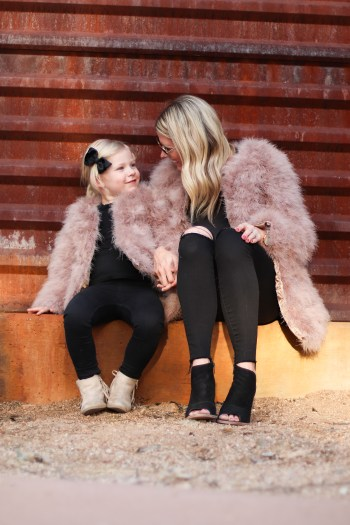 The cutest mommy and me fur coats
