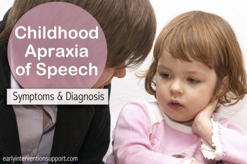 Childhood Apraxia of Speech - Symptoms & Diagnosis