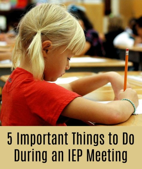 5 Important Things to Do During an IEP Meeting
