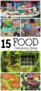 15 Food Based Sensory Bins