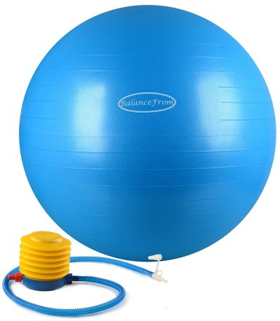 BalanceFrom Anti-Burst and Slip Resistant Fitness Ball with Pump (Gross Motor Tool)
