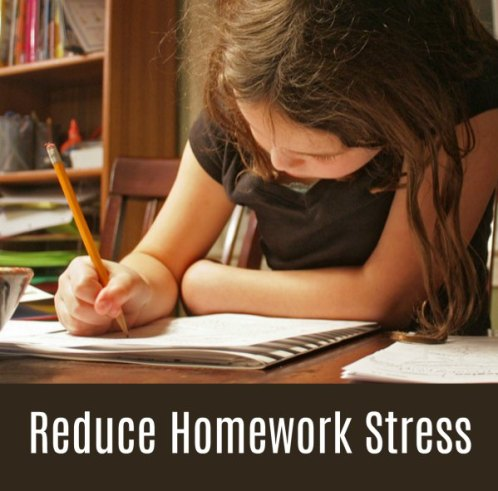 Reduce homework stress with your kids