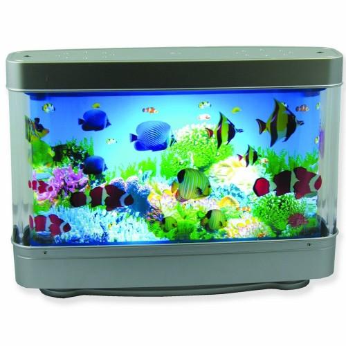 Aquarium lamp with fish